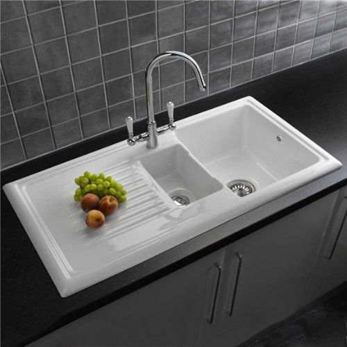 Reginox Rl301cw 1 5 Bowl White Ceramic Reversible Kitchen Sink