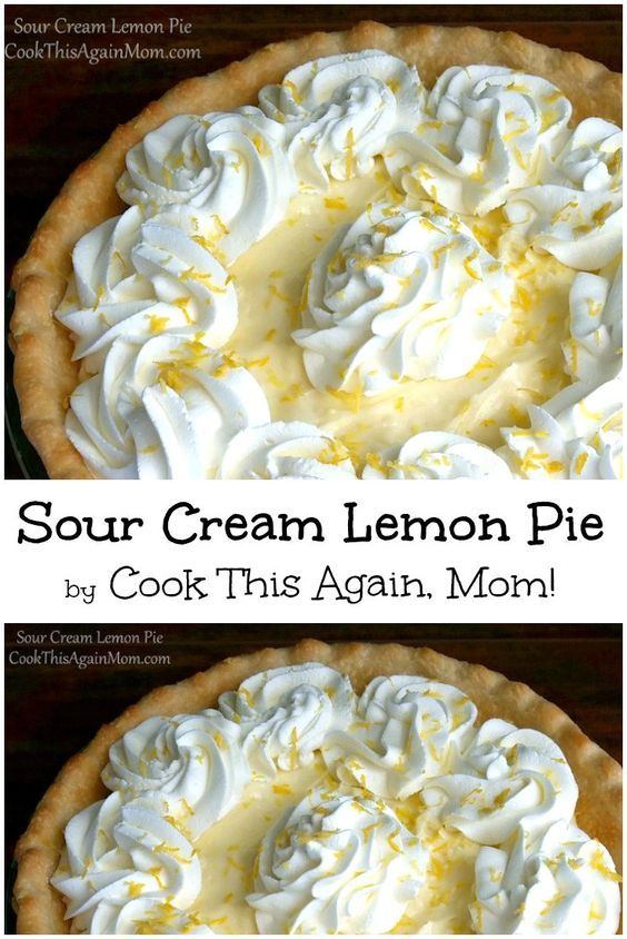 When I Found This Recipe For Sour Cream Lemon Pie In My Mom S Old Recipe Box I Had To Give It A Try I Am So Glad Lemon Recipes Lemon