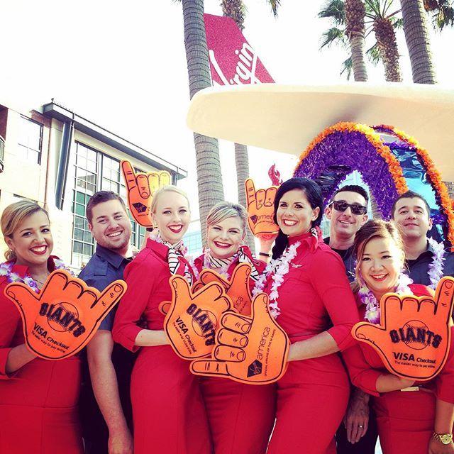 """Take us out to the ballgame! #VirginAmericaNight #SFGiants"" Photo taken by @virginamerica on Instagram, pinned via the InstaPin iOS App! http://www.instapinapp.com (08/15/2015)"