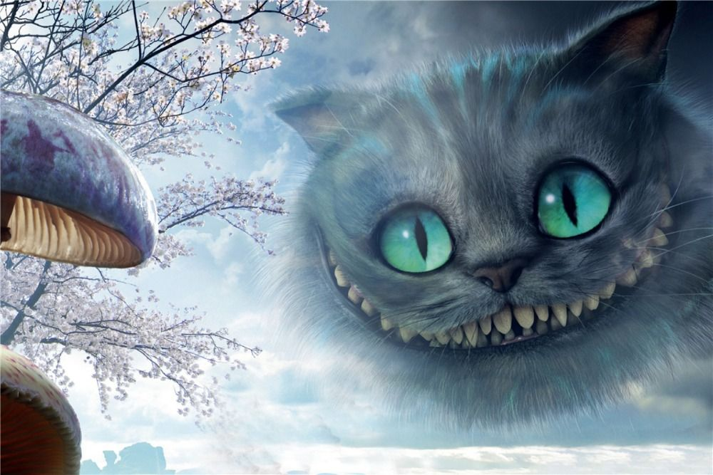 Online Get Cheap Alice Wonderland Posters Aliexpress Com Alibaba Group Cheshire Cat Wallpaper Cheshire Cat Alice In Wonderland Alice In Wonderland