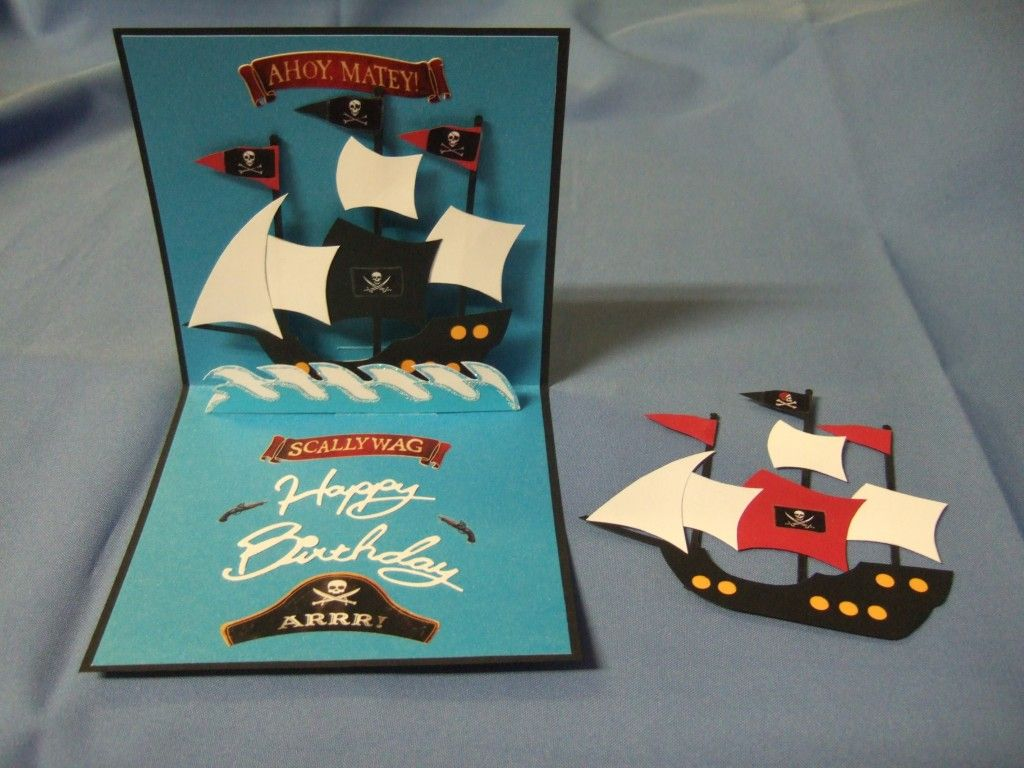 Scrapbook ideas pop up - A Pirate S Life For Me Popup Card Tutorial