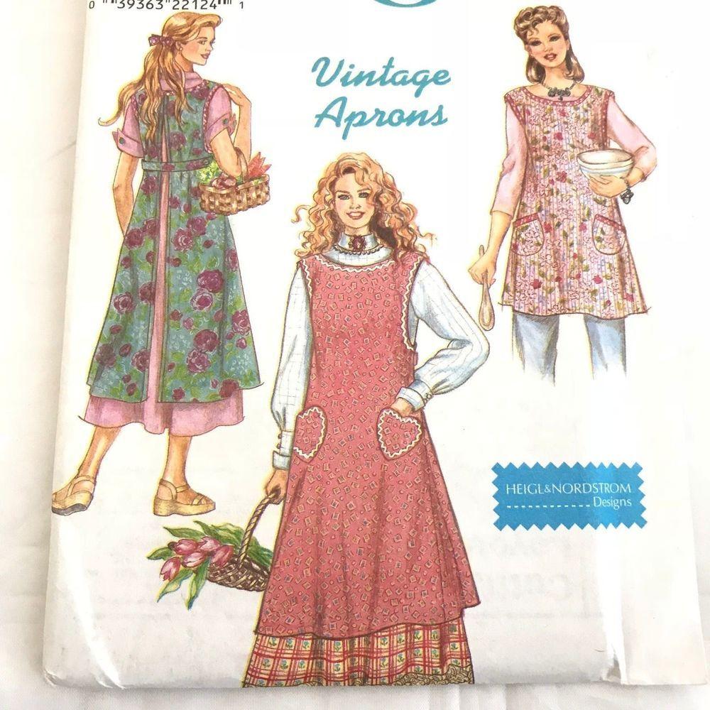 Simplicity 8372 Uncut Vintage Aprons Sewing Pattern S M L XL Crafts ...