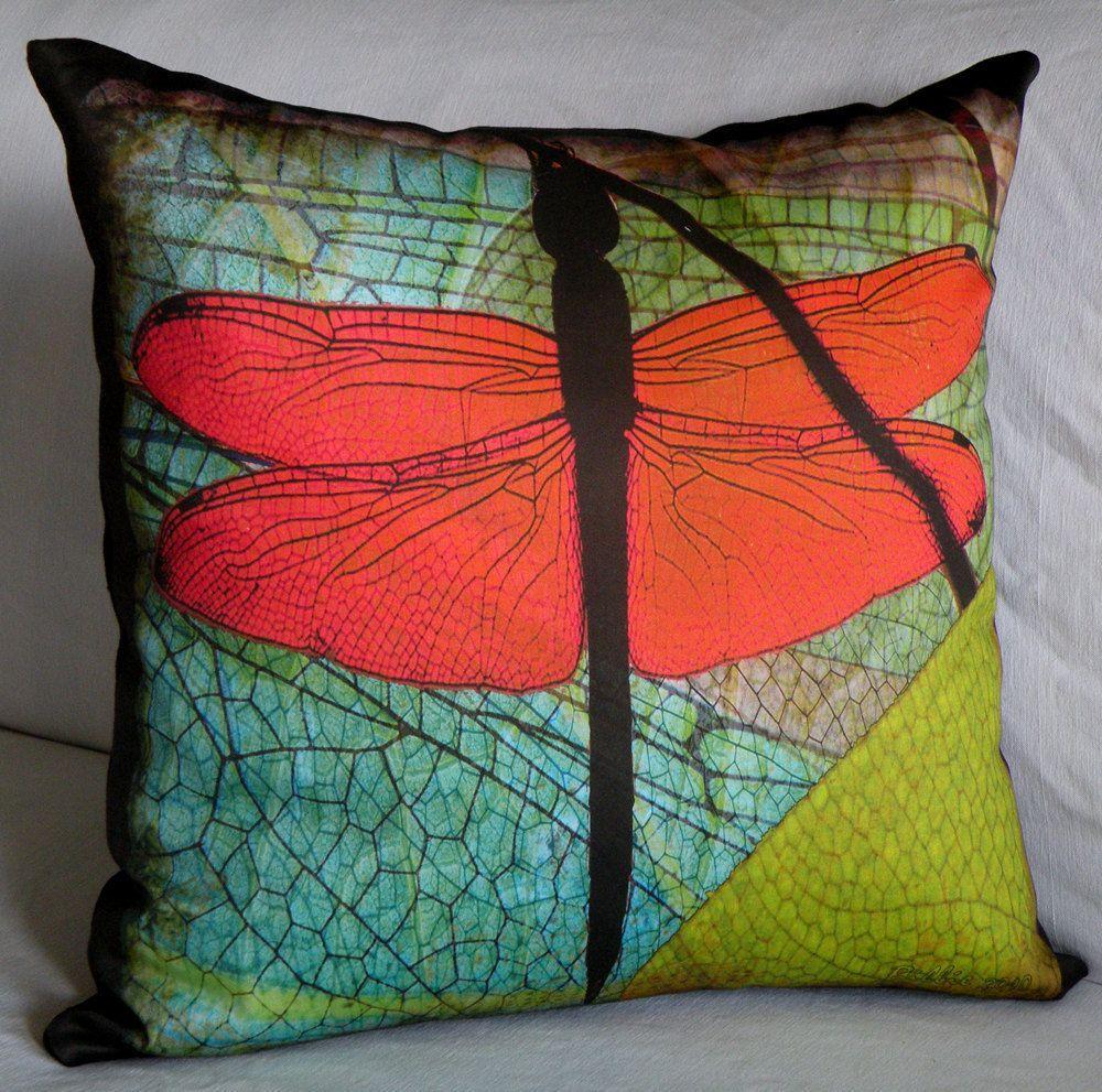 Designer pillow cover dragonfly wings fits x insert