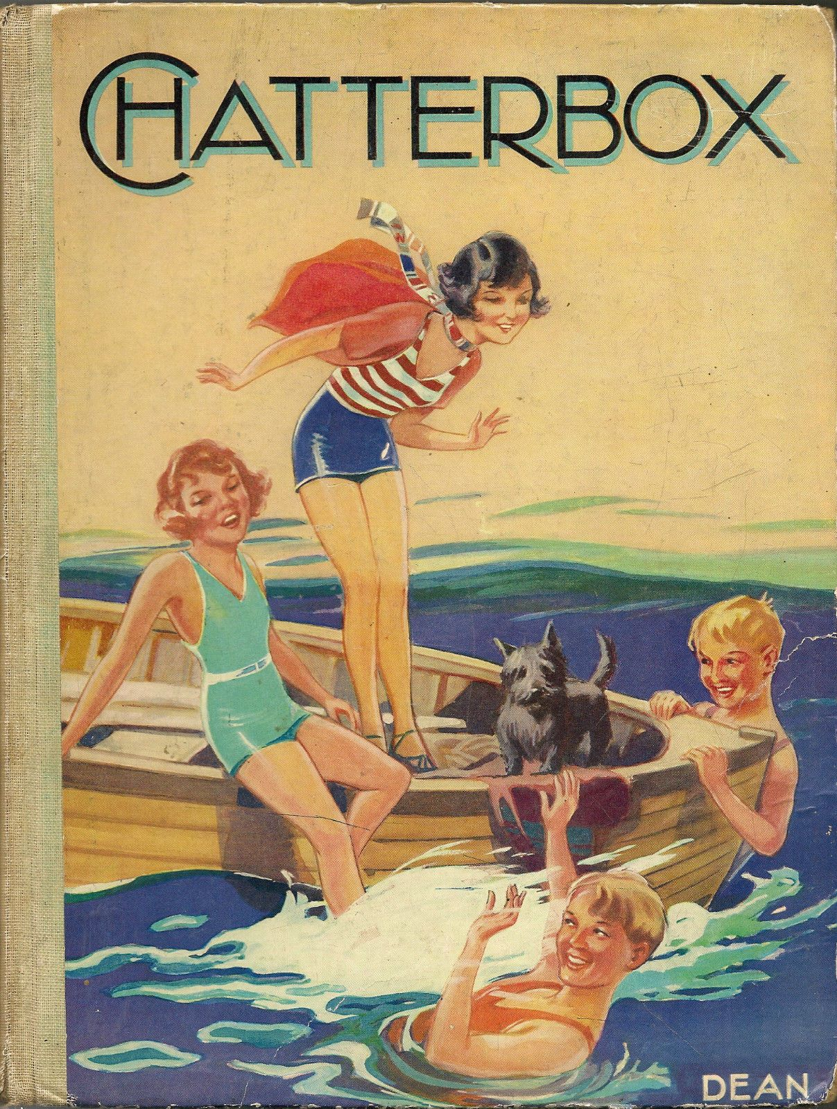 1936 7 Chatterbox Book 221 Clean Pages Dated Annual