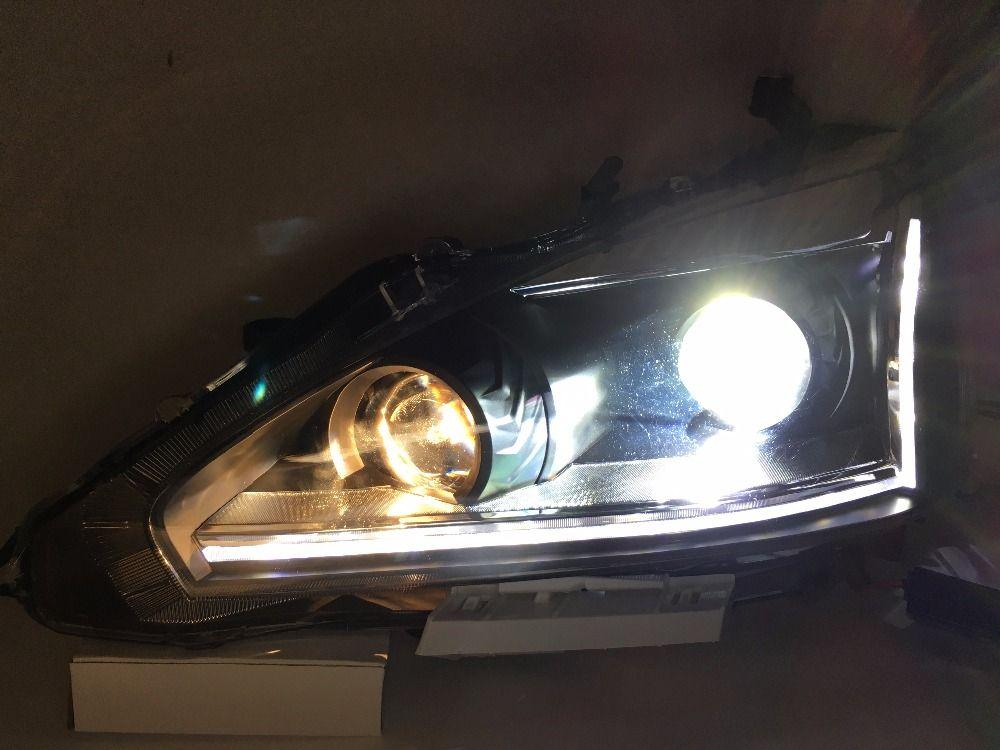 Free Shipping Vland Factory Auto Car Head Lamp For Teana Led Headlight Head Lamp Vland Manufactory 2013 2015 Led Headlights Car Lights Car Head