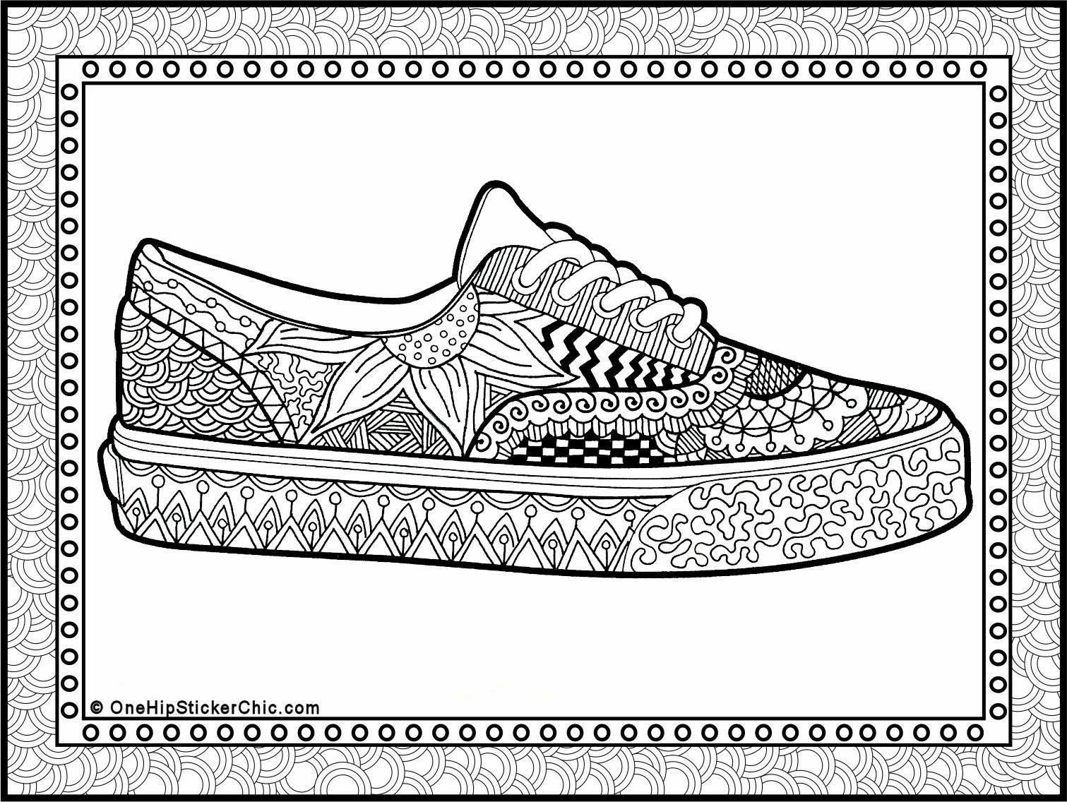 The sneaker coloring book pdf - Zentangle Jogger
