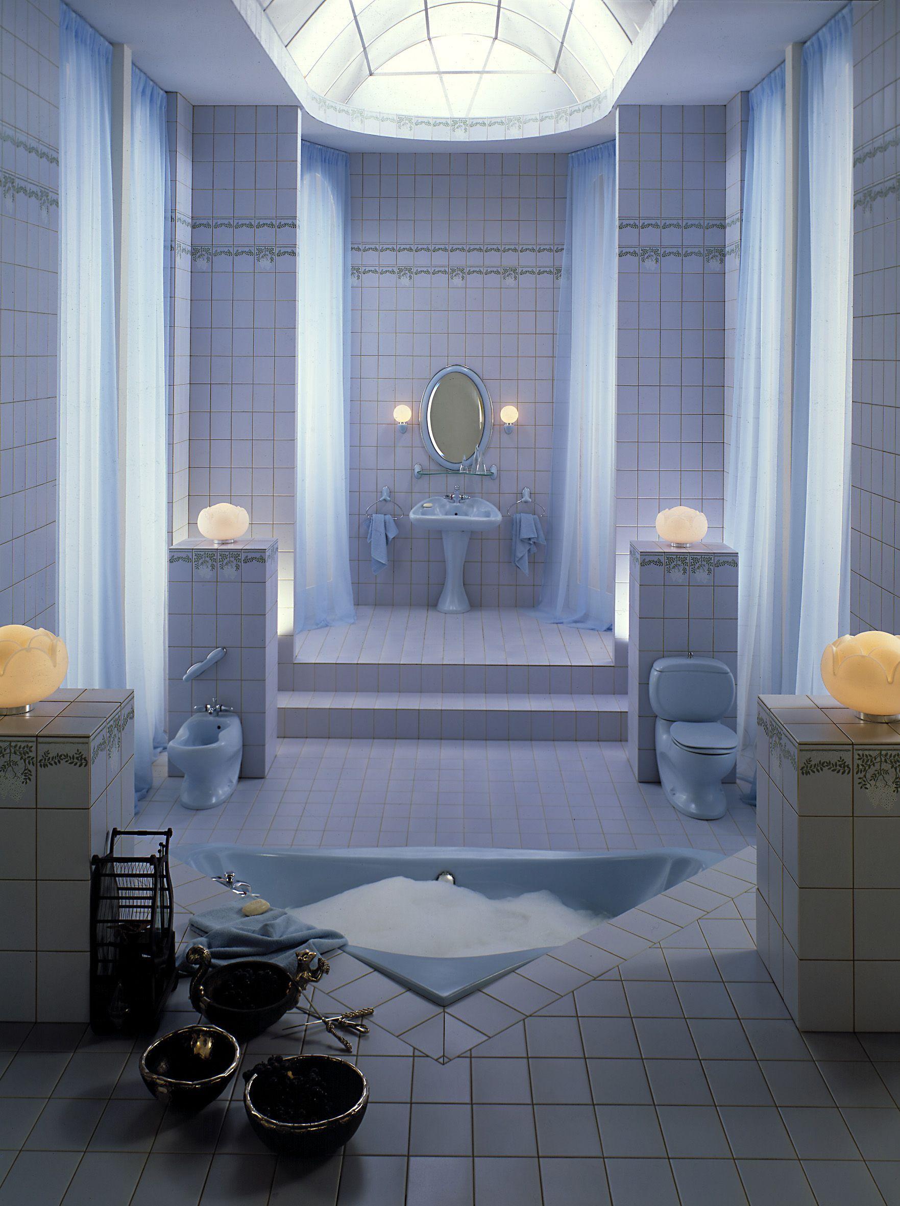 Retro Villeroy Boch Bathroom Featuring Colani Design