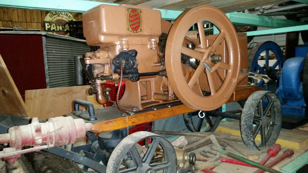 Antique vintage rock island 1 hp hit and miss gas engine