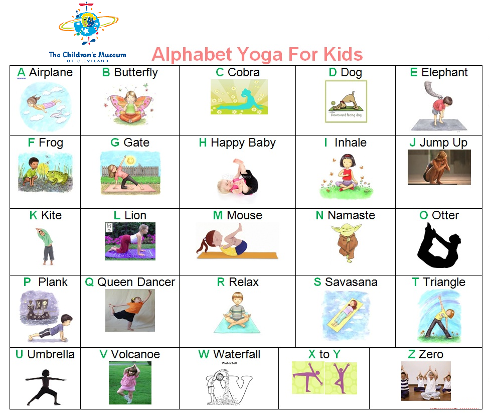 Abc yoga used by educators at the childrens museum to help abc yoga used by educators at the childrens museum to help children learn new and altavistaventures Images