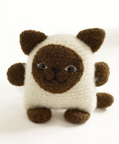 Felted Siamese Cat Amigurumi - FREE Crochet Pattern and Tutorial by Lion Brand Yarn