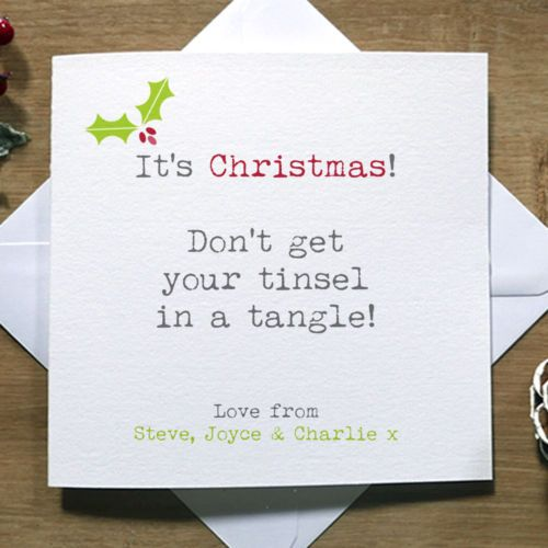 Details About Personalised Handmade Tinsel Funny Christmas