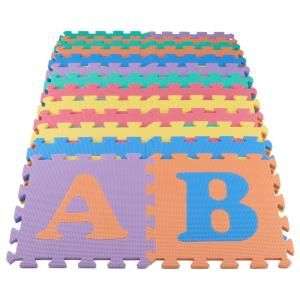Trafficmaster Multi Color 12 In X 12 In X 0 43 In Abc Playroom