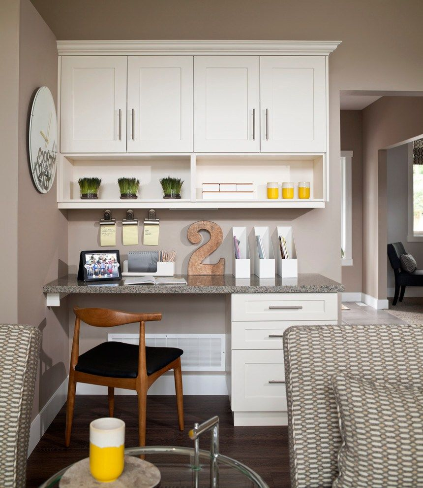 Stunning Built In Kitchen Desk Ideas, The desk may be used ...