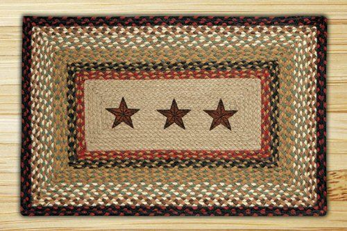 "Barn Stars Braided Area Rug 20"" x 30"" Doormat Carpet Rectangular Earth Rugs http://www.amazon.com/dp/B005JLFUFK/ref=cm_sw_r_pi_dp_RIZSub1M47CSD"