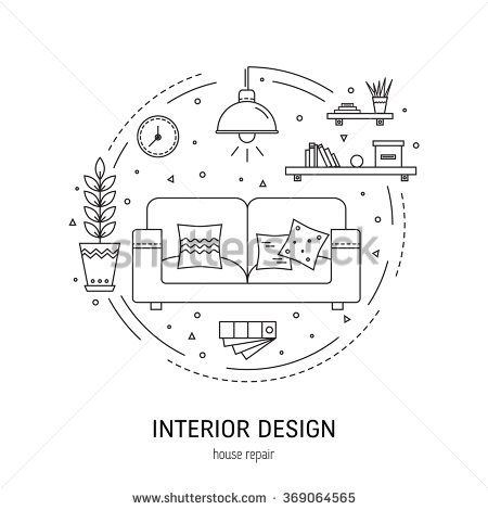 Interior Design Round Concept Made In Modern Line Style Living