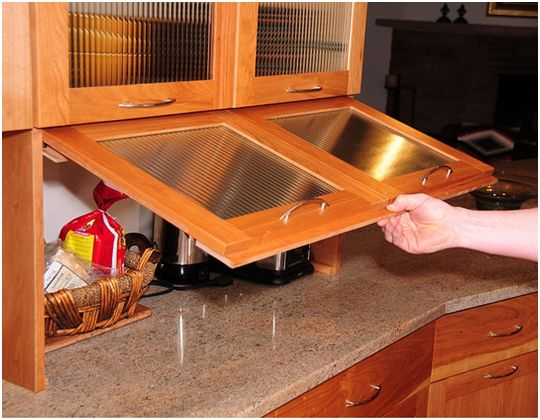 Garage Cabinet For Toaster Cabinet That Disguises Your