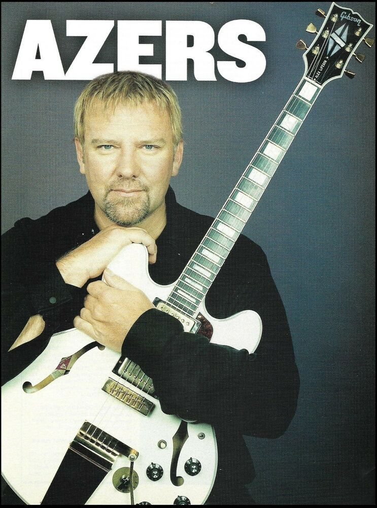 Rush Alex Lifeson Signature ES-Les Paul Gibson Guitar 8 x 11 pinup photo #gibsonguitars