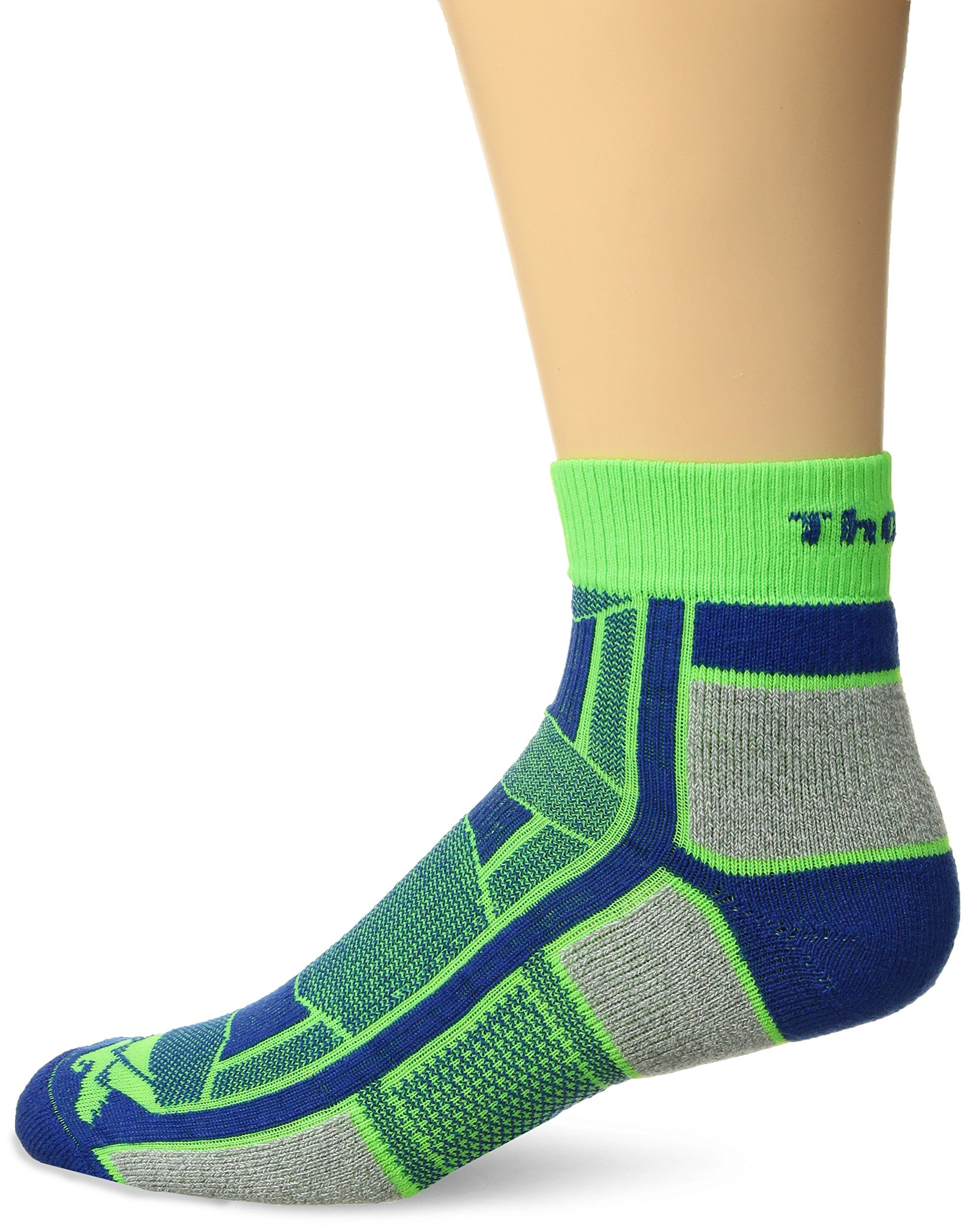 caf1ea664 Thorlos Thin Padded Outdoor Athlete Ankle Sock Lime XS >>> Check out the  image by visiting the link.(It is Amazon affiliate link) #MenSocksIdeas