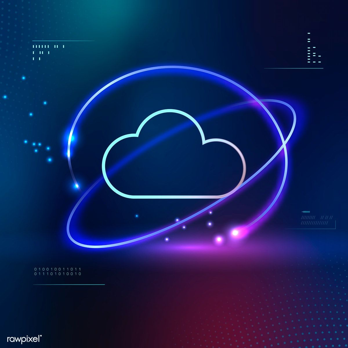 Download Premium Vector Of Computer Cloud Network Technology Vector 1016942 Clouds Cloud Computing Services Technology