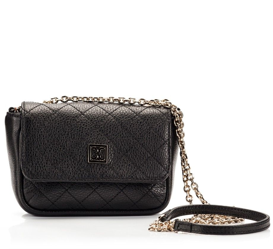 5ae43eba0904 Coccinelle MINIBAG Black quilted leather chain mini shoulder bag ...