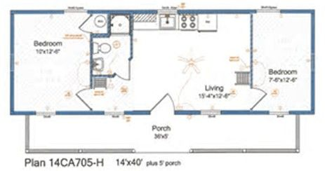 Image Result For 14x40 Cabin Floor Plans Tiny House Pinterest
