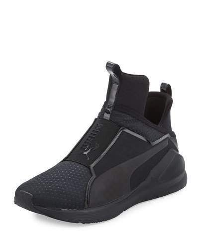 Puma Fierce Quilted High Top Sneaker, Black | High top