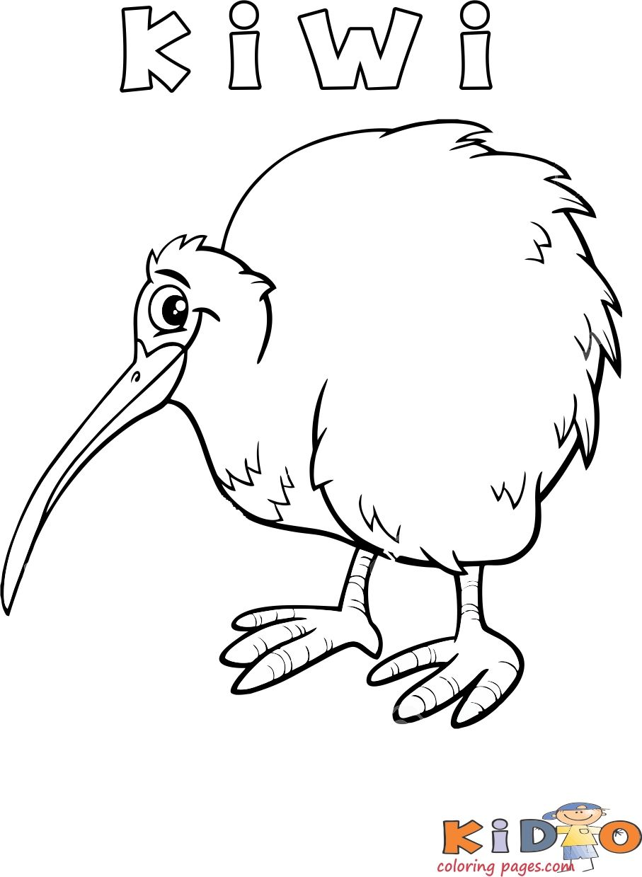 printable #kiwi bird coloring page for #preschool. printable picture of kiwi bir...