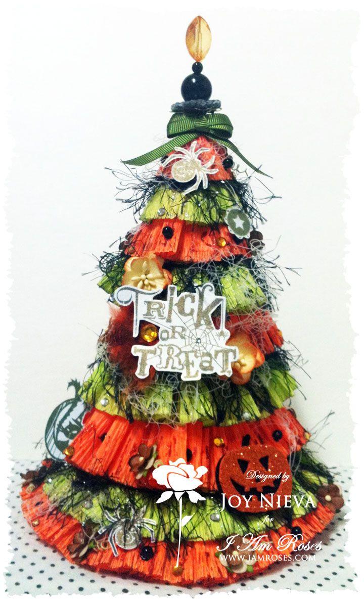 Halloween Tree My IAmRoses Design Team Proj Pinterest - halloween tree decoration