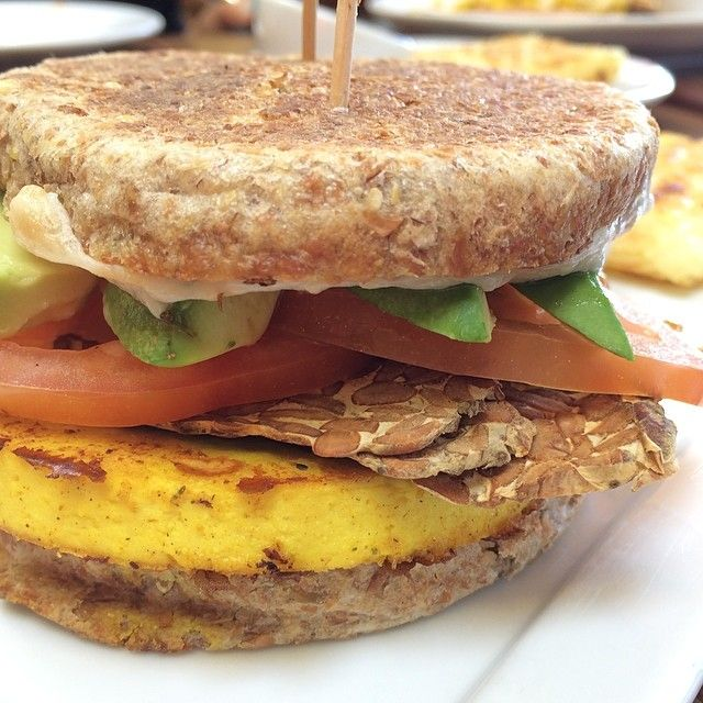 Vegan Breakfast Sammie At Real Food Daily, Pasadena, CA