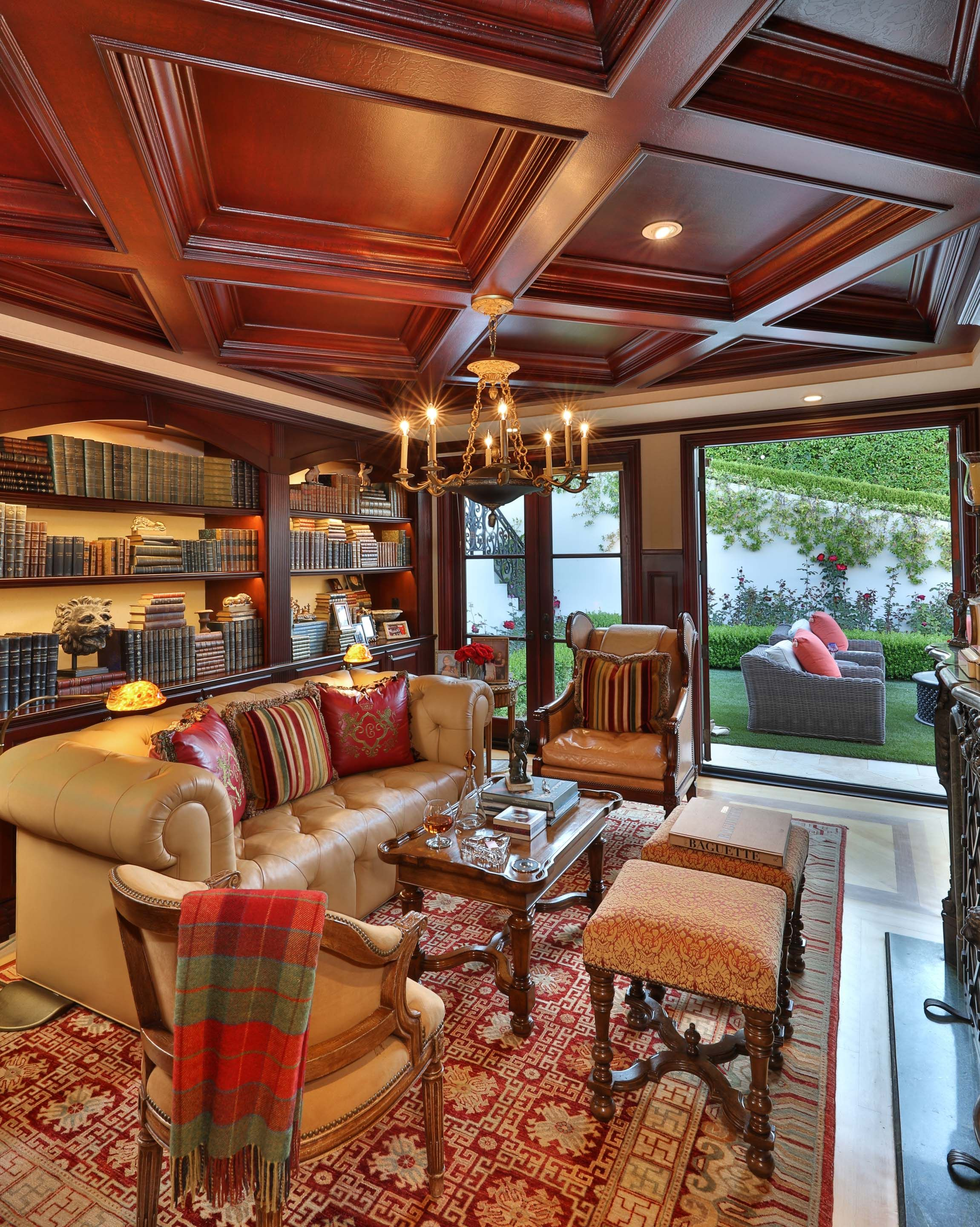 Classic Luxury Living Room With Wood Ceiling Luxury Living Room Design Luxury Living Room Luxury Living