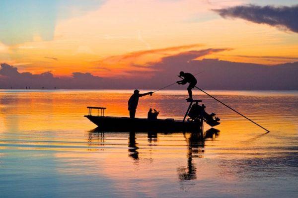 Beautiful Keys sunset.  Flats fishing is the best in Islamorada.