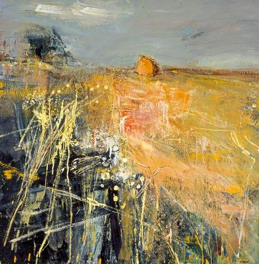 ☼ Painterly Landscape Escape ☼ landscape painting by Joan Eardley | Summer Fields