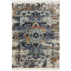 Photo of benuta carpet Simsala blue 160×240 cm – vintage carpet in used look benuta