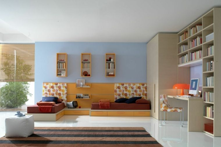 Chambre ado design - 35 idées que vos ados adorent | Ado, Bleu et ...