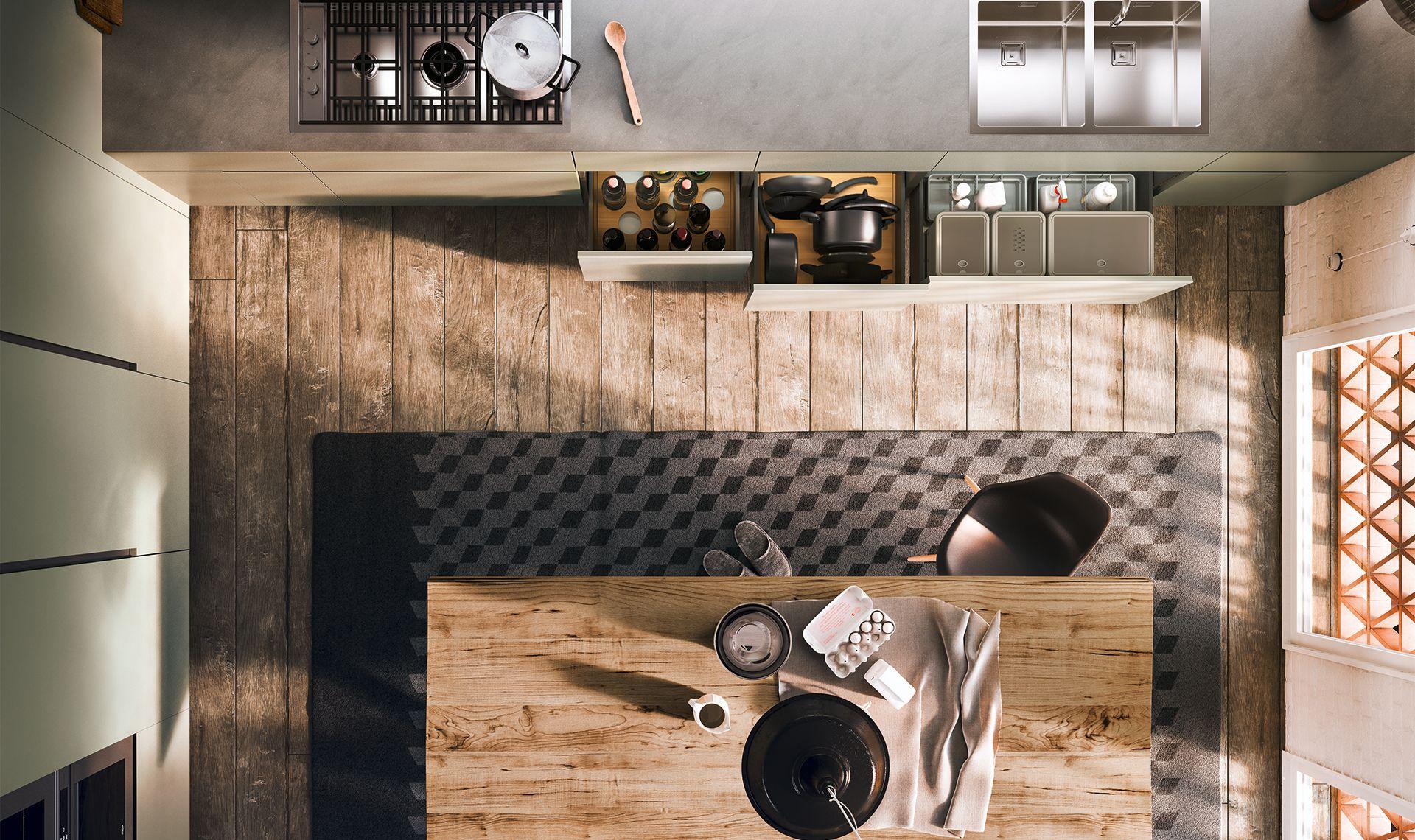 Cucina Rustica Contemporanea : Cucina rustica contemporanea
