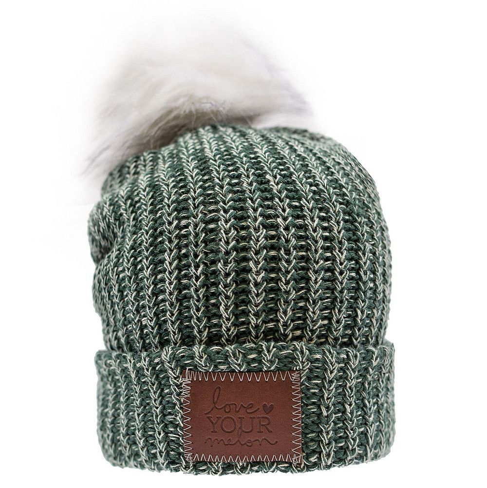 7769bdb7445 Forest and White Speckled Pom Beanie – Love Your Melon