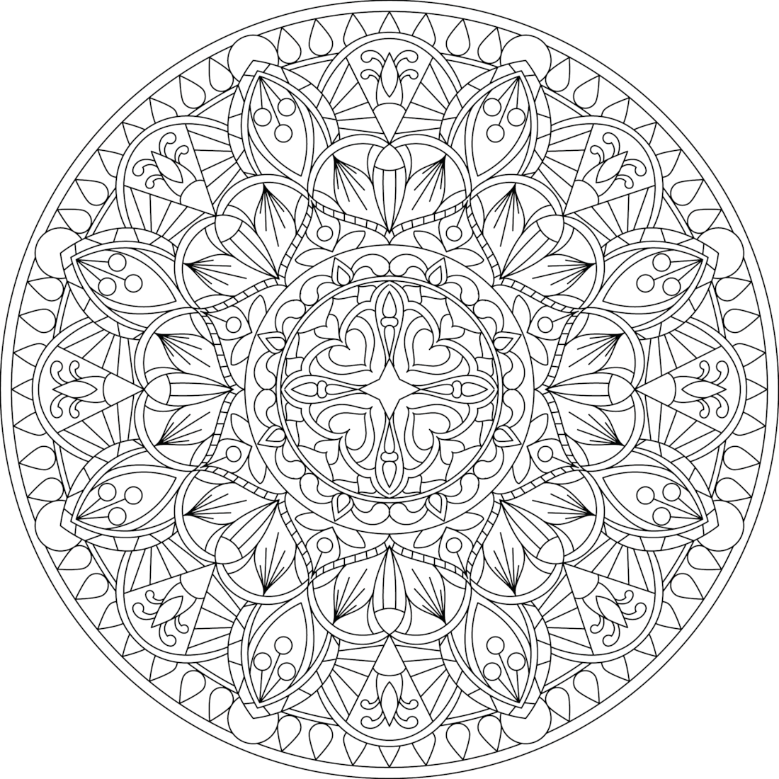 This is a photo of Delicate Free Printable Mandalas