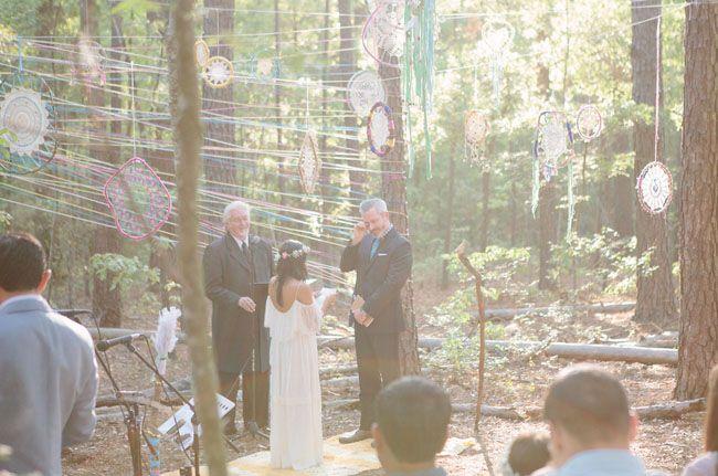 Bohemian Forest Wedding: Marisa + Jason