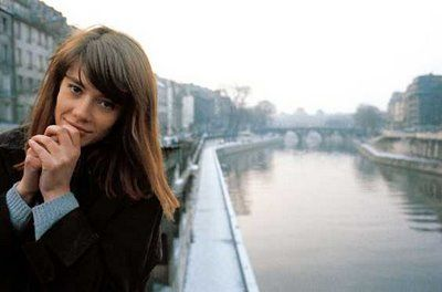 Francoise Hardy - Blue Jumper/ Brown coat - Great combination!