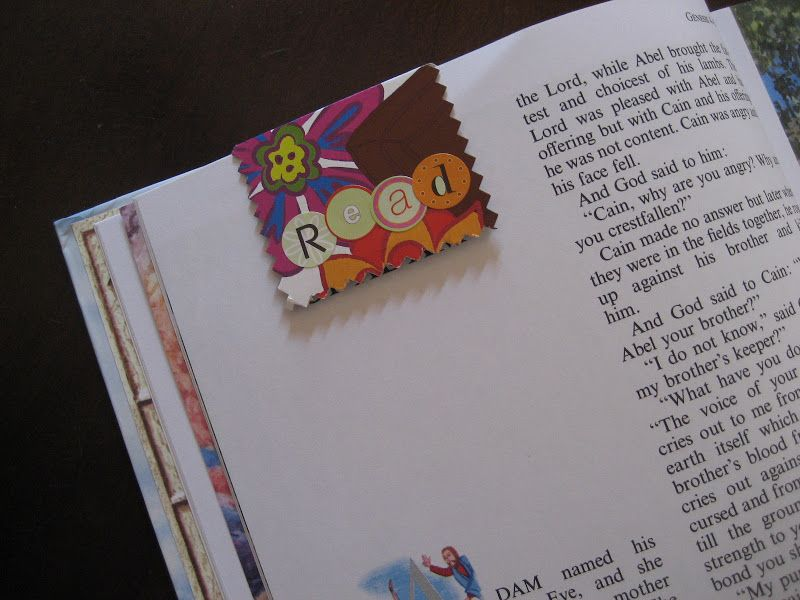 flipflops and applesauce: Magnetic Bookmarks
