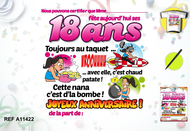 Plus adapté Carte D'anniversaire Gratuite À Imprimer 18 Ans Fille RX-09