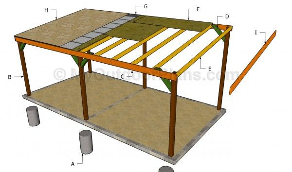 Carport plans free free outdoor plans diy shed wooden for Free standing carport plans