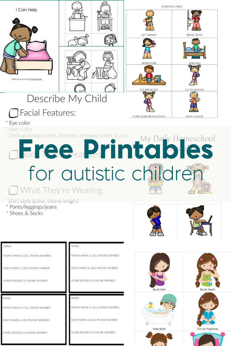 Worksheets Worksheets For Children With Autism free printables for autistic children and their families or are you in need of be sure to check out