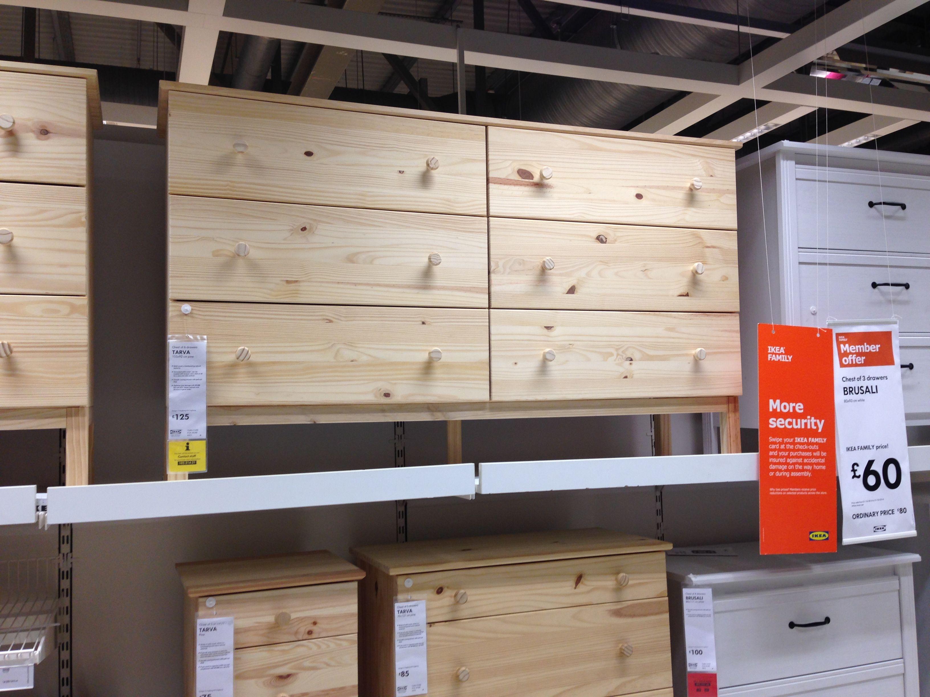 Tarva chest of 6 drawers IKEA 155 x 92 £125 untreated pine that