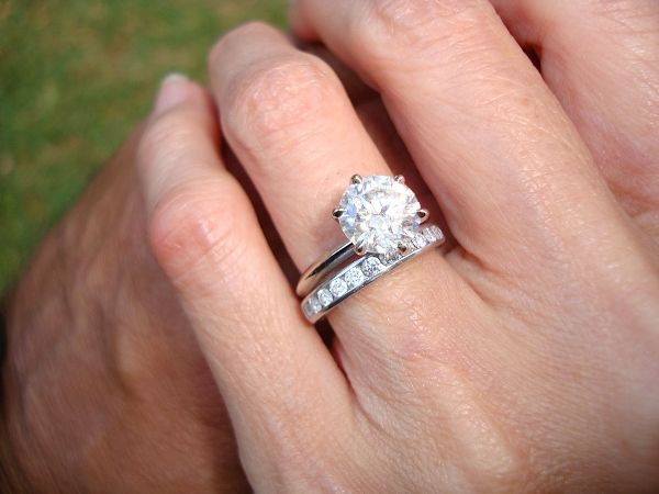 3c988e42f Classic Tiffany Style Knife Edge   Engagement Rings   Rings ...