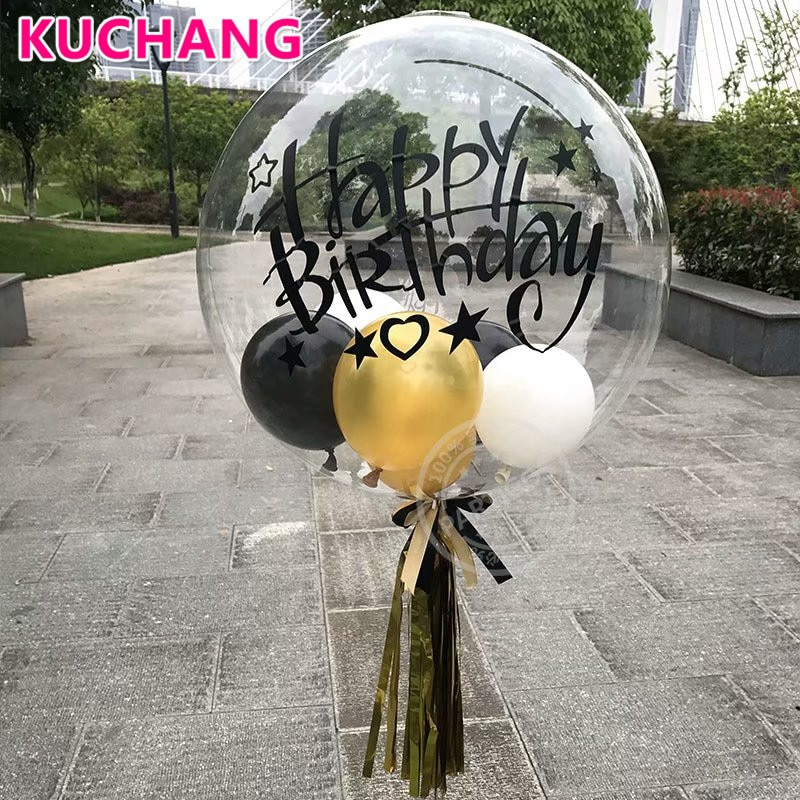 Photo of US $1.56 |1pack DIY Clear Transparent Bubbles Balloons Stickers Happy 16th 18th 21st 30th Birthday Graduation Party Decorations Supplies-in Party DIY Decorations from Home & Garden on AliExpress