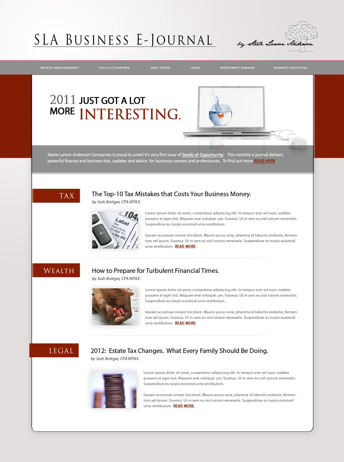 Email Design Services For Firm Inspiration A Newsletter Design Financial