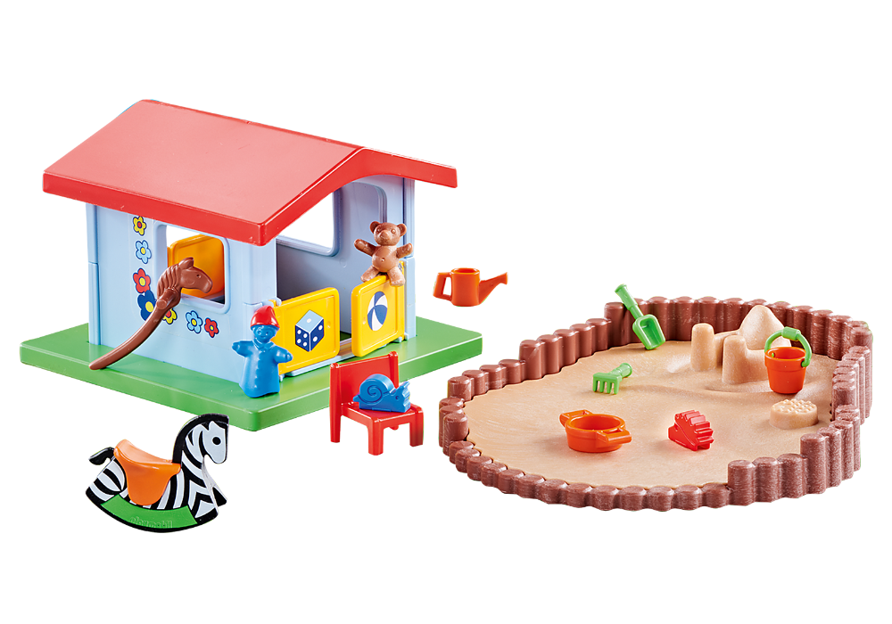 Cabane de jeu et bac à sable - 9814