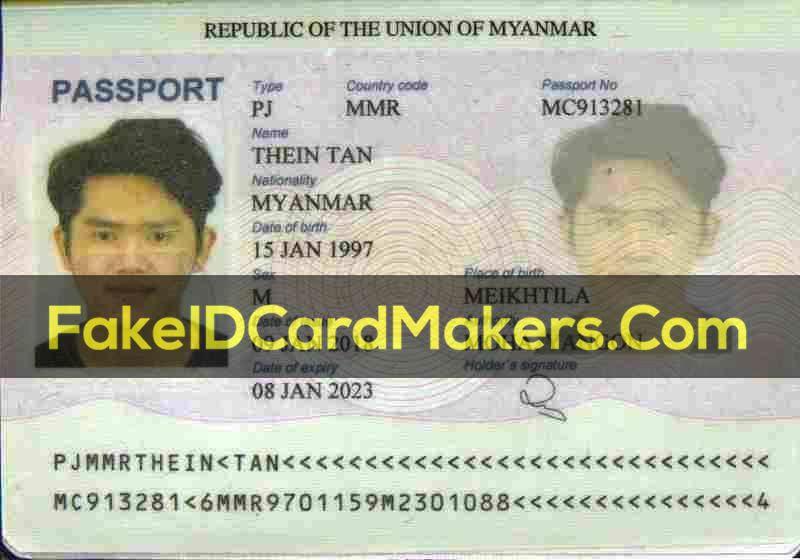 Fake Myanmar Burma Passport Template Psd Download Passport Template Templates Myanmar