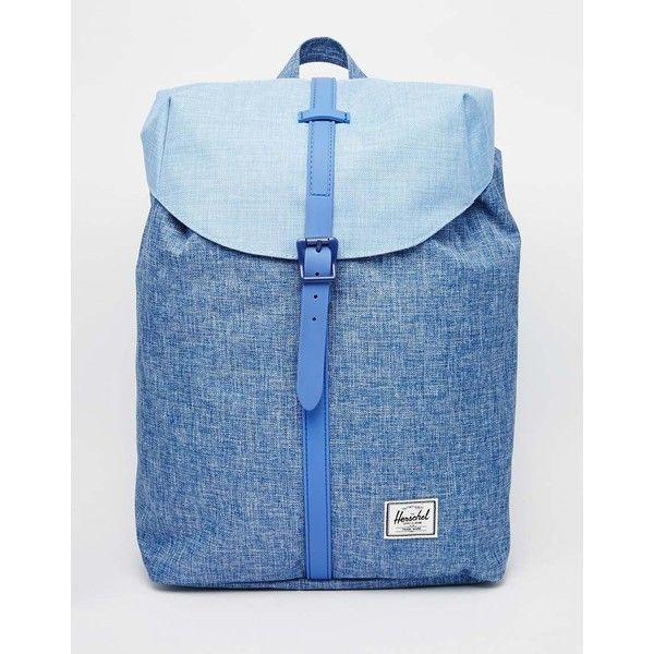 40792cb4871 Herschel Supply Co Post Backpack in Chambray Blue Colour Block ( 86) ❤  liked on Polyvore featuring bags